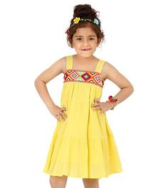 Dress My Angel Free Spirited Boho Dress - Yellow