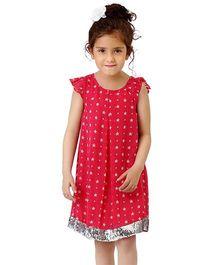 Dress My Angel Party Star Glitter Dress - Pink