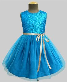 A.T.U.N Glitter Balloon Dress - Turquoise