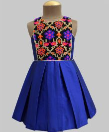 A.T.U.N Tapestry Daisy Olivia Dress - Royal Blue