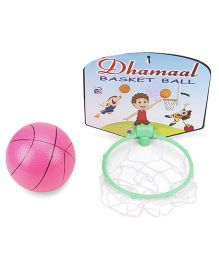 Ankit Toys Dhamaal Basket Ball - Green Pink