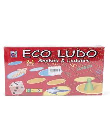 Ankit Toys Eco Ludo Junior Ludo & Snakes And Ladders - Multi Color