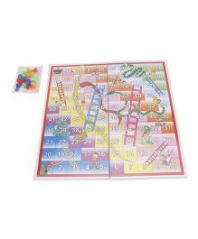 Ankit Toys Eco 2 In 1 Combo Ludo & Snakes And Ladders Game - Multicolor