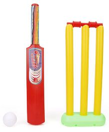 Ankit Toys One Day Cricket Mini Set - Yellow Red