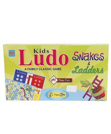 Ankit Toys Kids  Ludo Snakes And Ladders Game - Multicolor