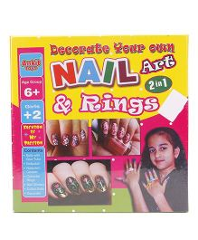 Ankit Toys Nail Art And Ring 2 In 1 - Multicolor
