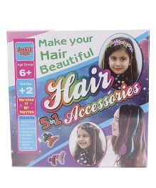 Ankit Toys Hair Accessories 5 In 1 Craft Kit - Multi Color