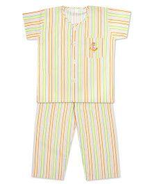 Kid1 Little Sailor Night Suit - Orange