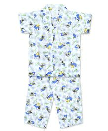 Kid1 Buzzing Bees Night Suit - Blue