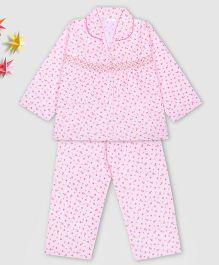 Kid1 Floral Night Suit - Pink