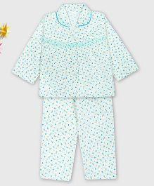Kid1 Floral Night Suit - Blue