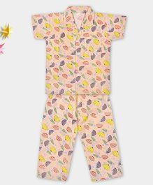 Kid1 My Umbrella Night Suit - Peach