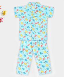 Kid1 My Umbrella Night Suit - Blue