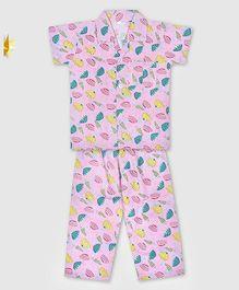 Kid1 My Umbrella Night Suit - Pink