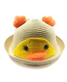 Miss Diva Soft Penguin Style Cap - Beige