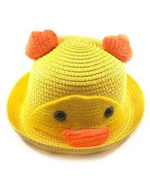 Miss Diva Soft Penguin Style Cap - Yellow