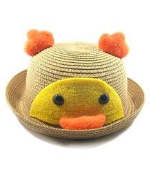 Miss Diva Soft Penguin Style Cap - Brown