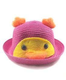 Miss Diva Soft Penguin Style Cap - Magenta