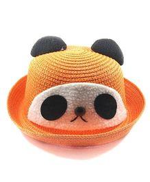 Miss Diva Soft Panda Cap - Orange