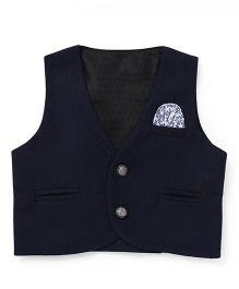 Robo Fry Sleeveless Jacket - Navy Blue
