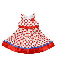 Kidsdew Sleeveless Lollipop Dress - Red