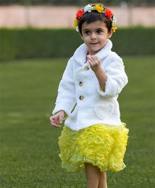 Kidsdew Party Wear Skirt - Yellow