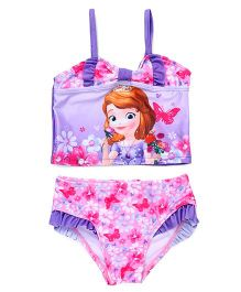 Disney Swimwear Sofia Printed - Pink And Purple
