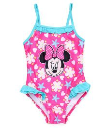Disney Swimwear Minnie Mouse Print - Pink And Blue