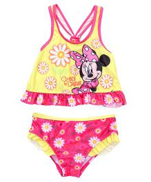 Disney Swimwear Minnie Mouse Printed - Yellow  And Pink
