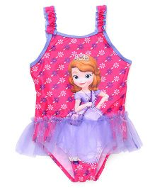 Disney Swimwear Sofia Print - Pink And Purple