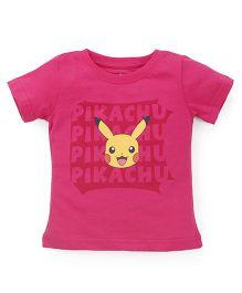 Bodycare Half Sleeves T-Shirt Pikachu Print - Pink