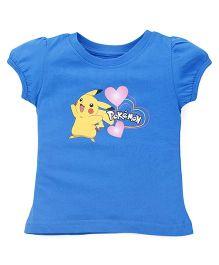 Bodycare Short Sleeves Tee Pikachu Print - Blue