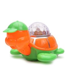 Playmate Colour Dazzle Projection Turtle - Orange And Green