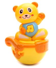 Kumar Toys Roly Poly Kitty Face Puzzle Tumbler - Yellow