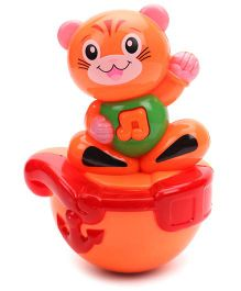 Kumar Toys Roly Poly Kitty Face Puzzle Tumbler - Orange