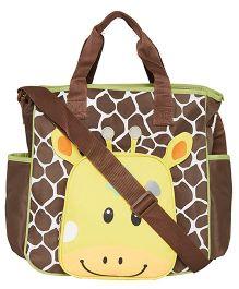 Ez Life Giraffe Printed Baby Diaper Carry Bag - Brown & Yellow