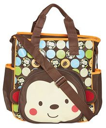 EZ Life Cute Monkey Printed Baby Diaper Carry Bag - Brown