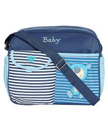 Ez Life Stripes Medium Diaper Carry Bag - Blue
