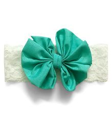 Knotty Ribbons Big Bow Hairband - Green