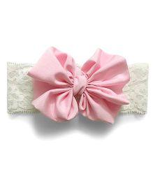 Knotty Ribbons Big Bow Hairband - Light Pink