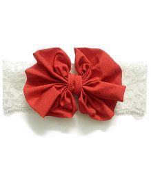 Knotty Ribbons Big Bow Hairband - Grey