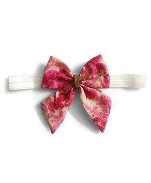 Knotty Ribbons Stripes Sailor Bow Hairband - Red