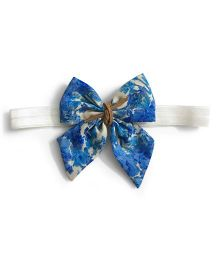 Knotty Ribbons Pastel Sailor Bow Hairband - Blue