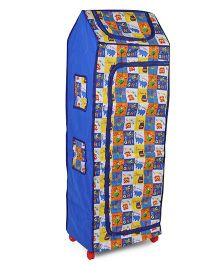 Kids Zone Folding Almirah With Elephant Print - Blue