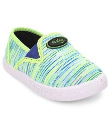 Footfun Stripe Casual Shoes - Green White