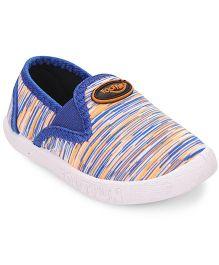 Footfun Stripe Casual Shoes - Blue Orange