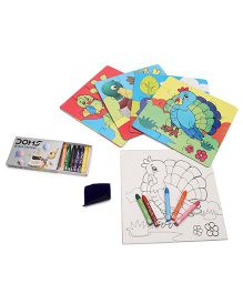 Yash Toys Educational 2 In 1 Puzzles Color And Birds - Multi Color
