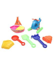 Negi Helicopter Beach Set - Blue & Multi Color