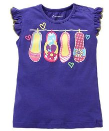 Cherubbaby Booties Applique Tee - Purple
