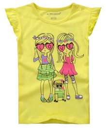 Cherubbaby Fashion Girl Printed Tee - Yellow